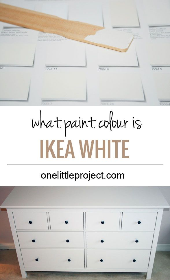 What paint colour is closest to IKEA Hemnes white?  See photos of it compared to various paint swatches.