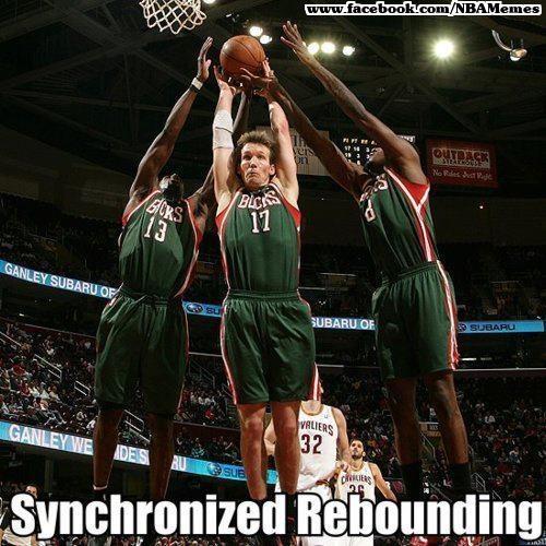 Synchronized Rebounding! #Bucks #NBA #basketball