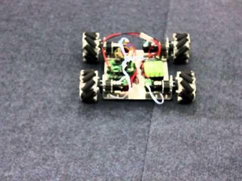 4WD MECANUM WHEEL MOBILE ROBOT DEMO ACTION - YouTube