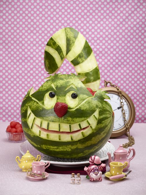 HOW TO :   Carve Cheshire Cat Watermelon AND Other Animals and Designs!!!!!!!!!