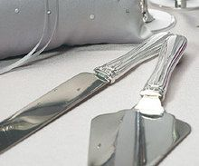 Silver Plated Cake Serving Set With Elegant Crystals