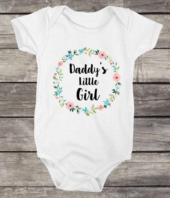 Baby Girl Clothes Daddy's Girl Onesie by ValerieandVivienne