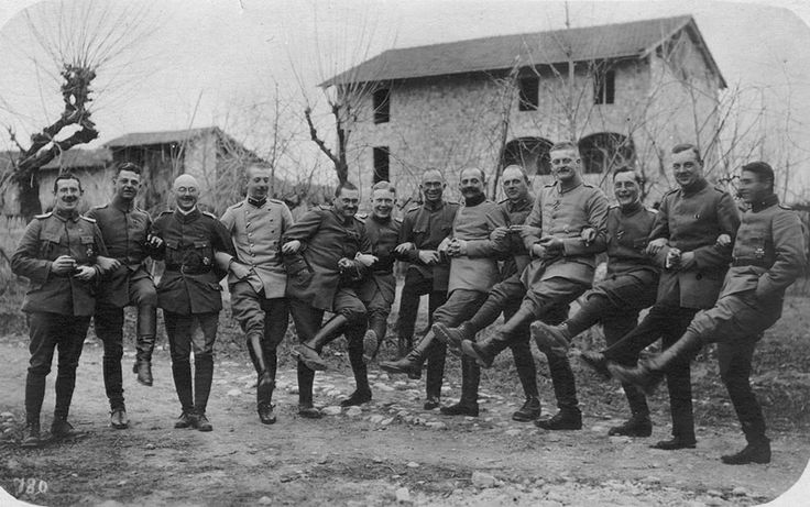 World War I in Photos: The Kaiser\'s Birthday. German officers during the Kaiser\'s birthday celebrations in Rauscedo, Italy, on January 27, 1918. (CC BY SA Carola Eugster)
