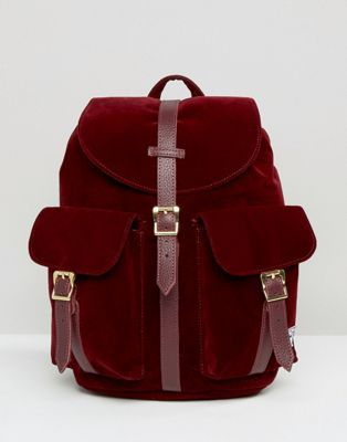 Herschel Supply Co Dawson Velvet Backpack