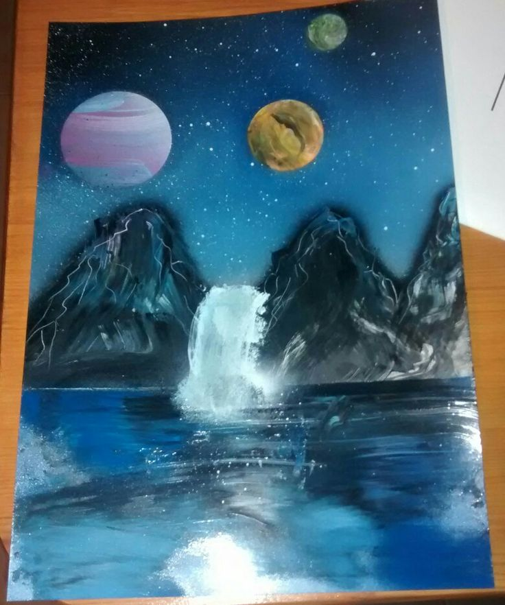 Spray paint art!!!❤