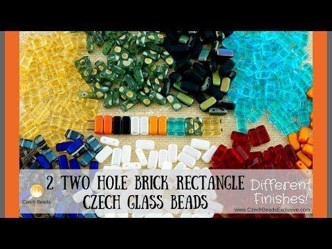 2 HOLE BRICK Rectangle Czech Glass Beads - New Arrivals    #dawanda #dawanda_de #dawandashop #etsy #etsyshop #etsystore #etsyfinds #etsyseller #amazon #amazondeals #alittlemercerie #2holebeads #czechbeads #czechglassbeads #glassbeads #rectangle #brick