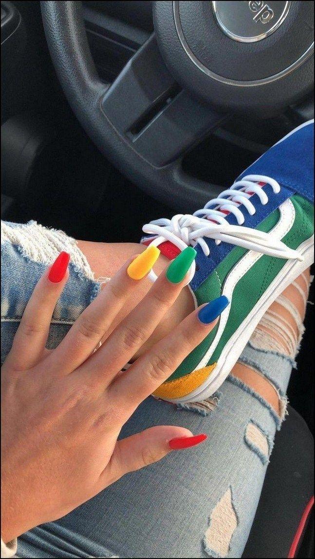 Trendy meer dan 50 heldere zomerse nailart-ontwerpen #summernail #nailartdesign #bright …