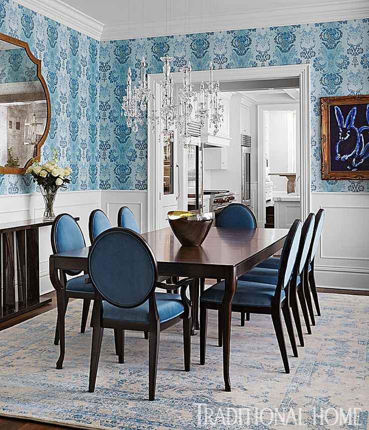traditional home dining rooms. Bill and Giuliana Rancic s Blue  White Chicago Dining Room Traditional Home 364 best Magazine images on Pinterest