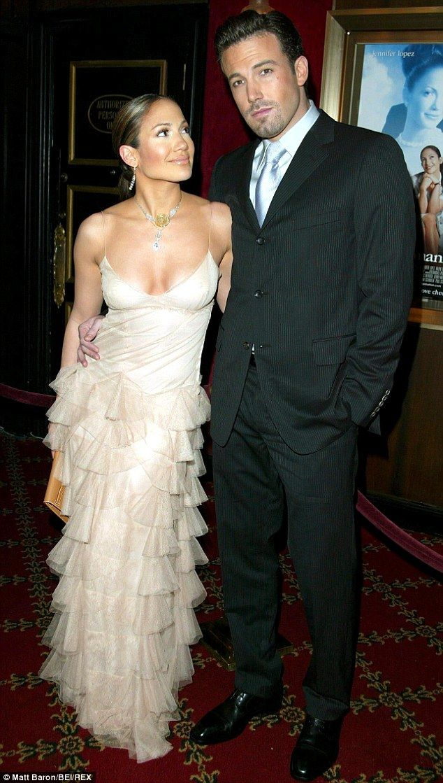 Love's end: Jennifer and Ben pictured in 2002, before their split in 2004