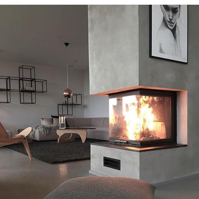 WEBSTA @ hus10a - Cozy  cred: @wellendorfs  #annabylove #annabulow #peis #fireplace #nordic #interiordesign #inspo #inspiration