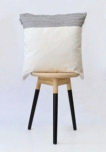Monochrome colourblock cushion cover