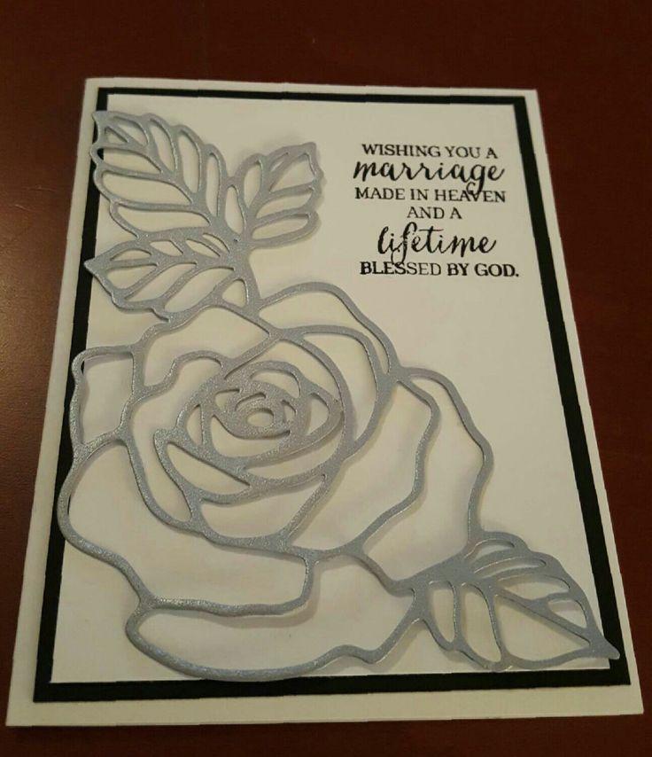 Wedding card with Rose Wonders