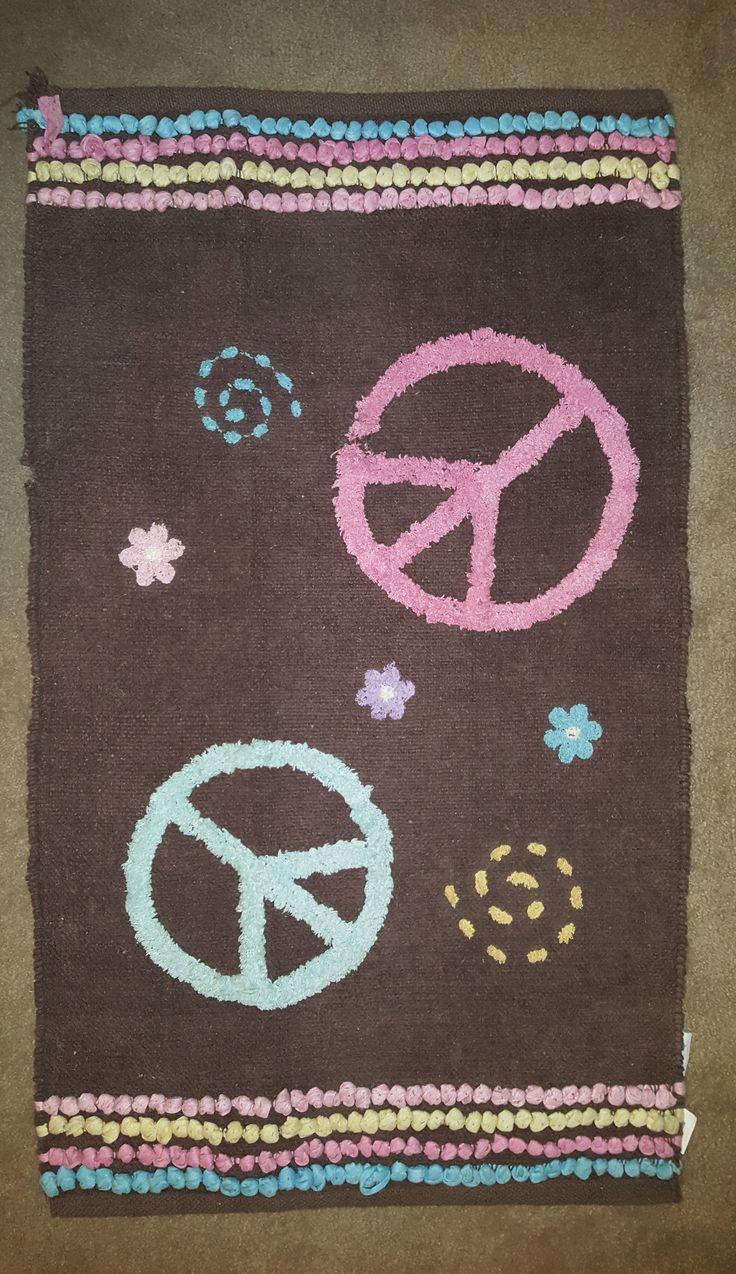 Peace Sign Rug