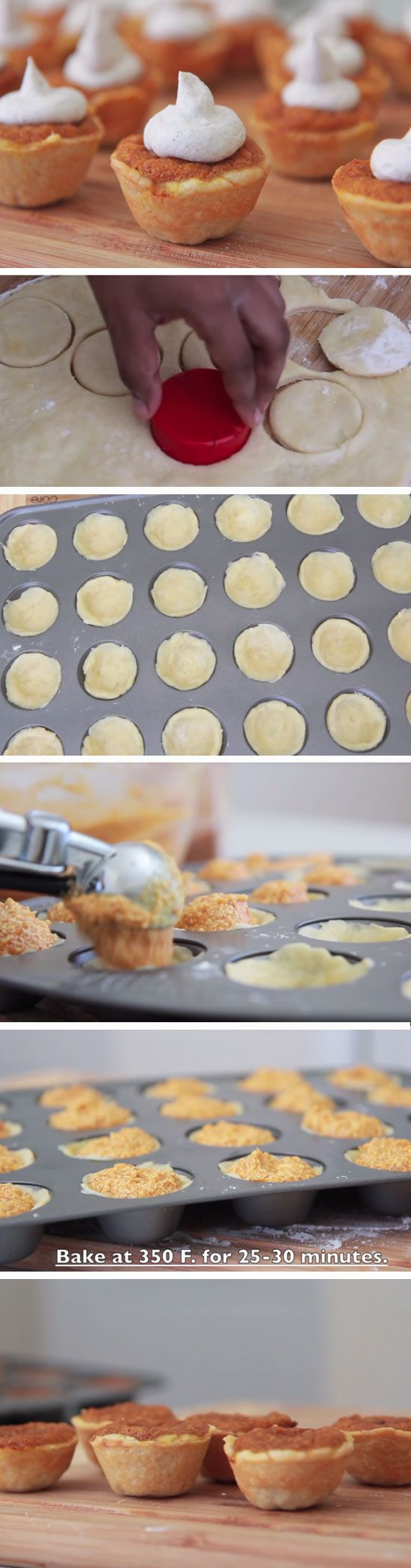 Mini Pumpkin Pie Bites | DIY Fall Baby Shower Ideas for Boys