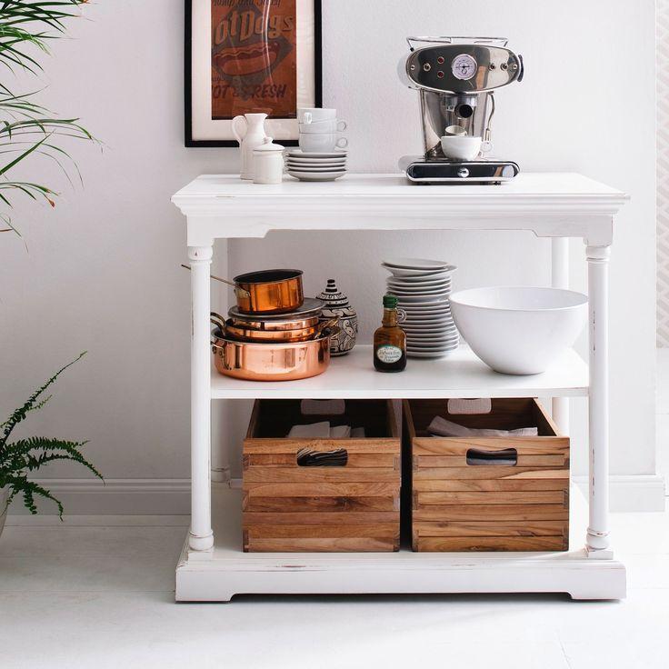 Nova Solo Small Kitchen Table with Teak Boxes