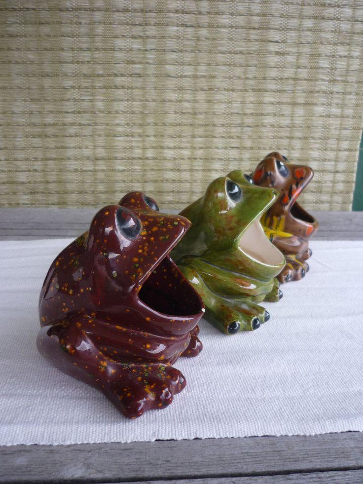 RESERVED For Anne   Vintage Ceramic Sink Frog, Retro 70u0027s Kitchen Decor
