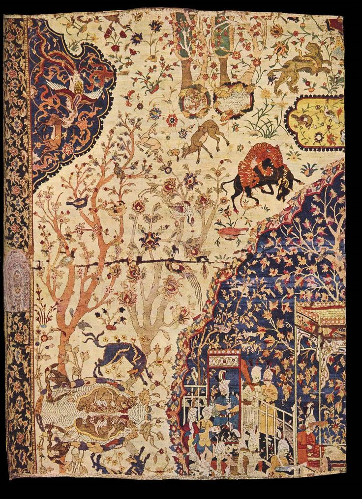 Safavid - lost fragment of another Persian carpet which once belonged to Hungarian tycoon Baron Hatvany. It was lost in the turmoil of the 1930s.