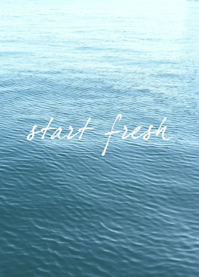 Every day is a fresh start!