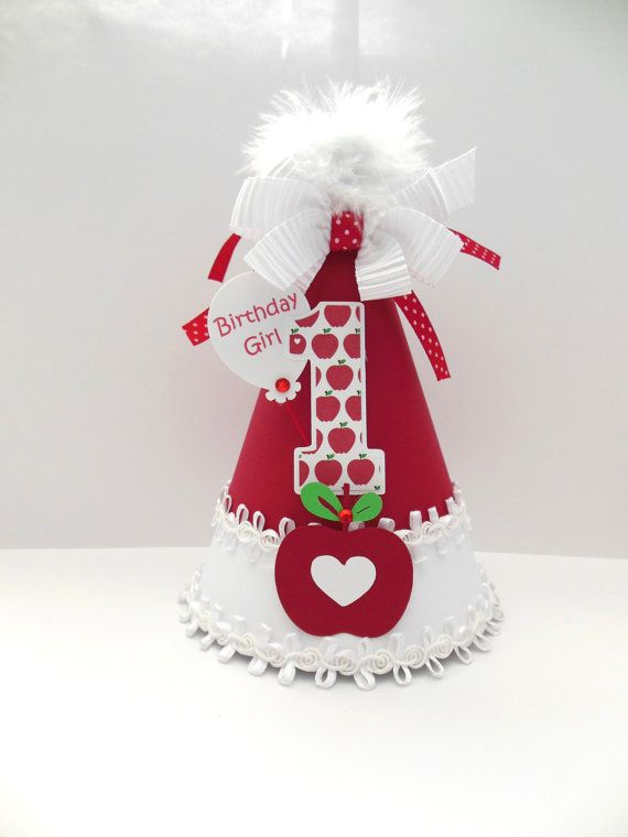 Lil' Apple Birthday Party Hat  Apple of My by SandysSpecialtyShop, $20.00