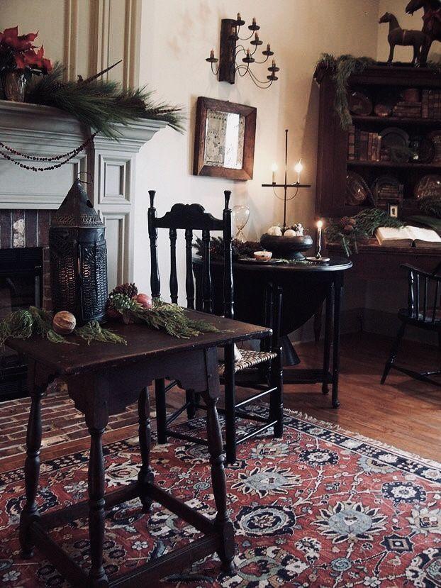 The Primitive Stitcher Primitive Living Room