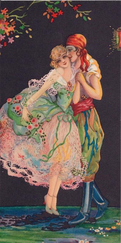 Calendar art by Tsanya, circa 1920's