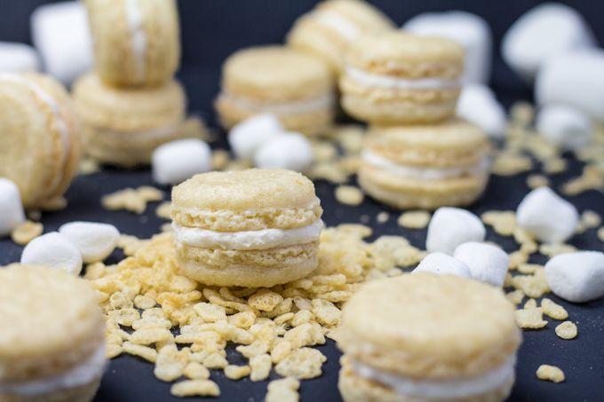 Rice Krispies Treat Macarons | Southern FATTY | Bloglovin'