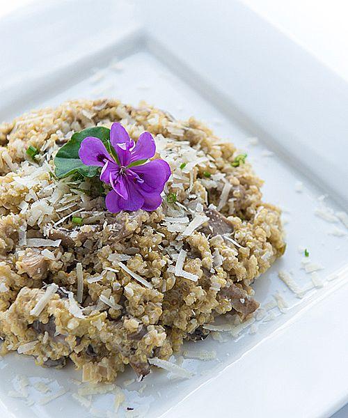 Quinoa Risotto mit Pilzen