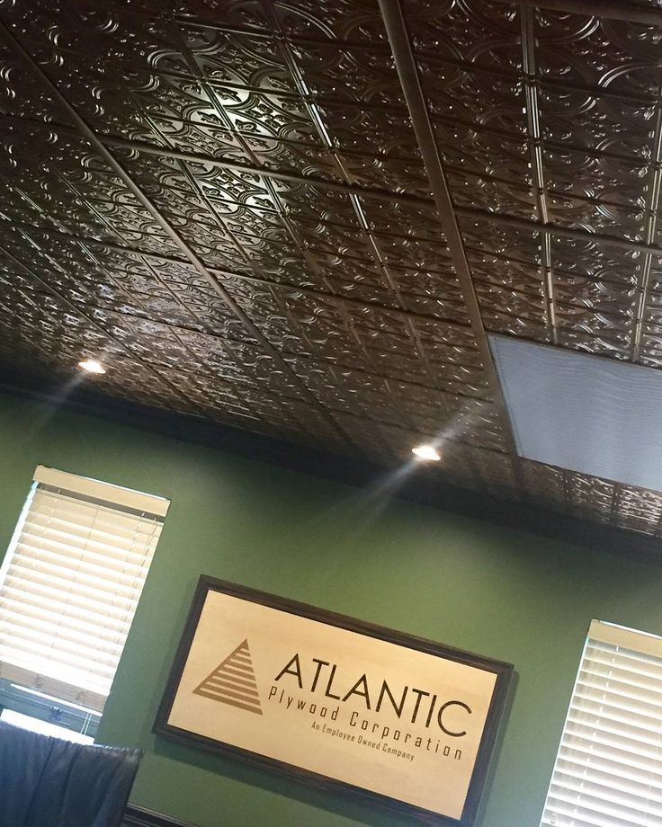 Looking for an easy way to hide those ugly drop ceiling tiles? ATI's Mirroflex ceiling tiles pop right in over the existing drop ceiling tiles for a modern updated look. There are hundreds of finish and design options available. Visit www.atilaminates.com for patterns and samples.