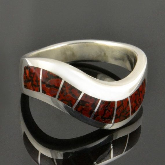 dinosaur bone wedding ring dinosaur bone ring in sterling silver dinosaur bone 3550