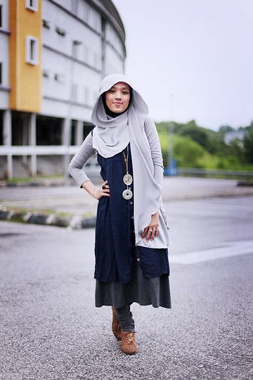 Gray but i'm okay (by Sue Anna Joe) - Oval Owl Necklace, Jade Pendant, Schanaz Silk Satin Scarves, Grey Top, Navy Blue Outter Dress, Dark Gray Dress, Forever 21 Pull On Skinny Denim, Forever 21 Lace Up Leopard Brogues