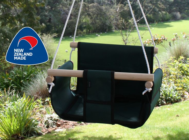 Baby Swing. Made in New Zealand. Hang anywhere anytime. The Baby Swing with a difference. This is the perfect baby swing that can be hung anywhere. Perfect for swinging babies and toddlers in or can be used as a feeding chair. Take anywhere and folds down to flat. It is made from 600 denier canvas that is waterproof and washable. It also has a cushion as the seat that is removable for extra washing. The ropes are fully adjustable. All wood is finished in a vege oil after been sanded smooth