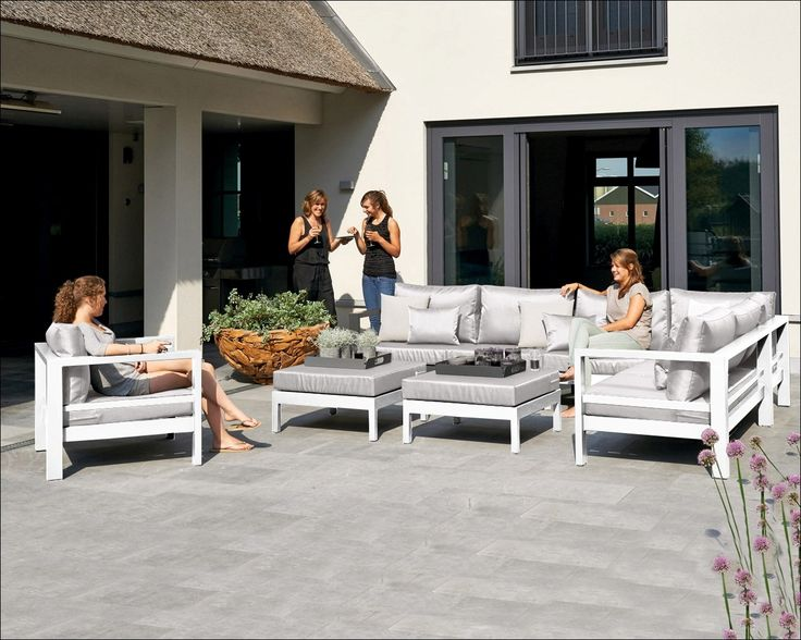 Delta loungeset wit ! | Buitenhof
