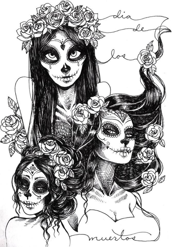 Sugar skull art -) | skull | Pinterest | Best Sugar skull art and ...