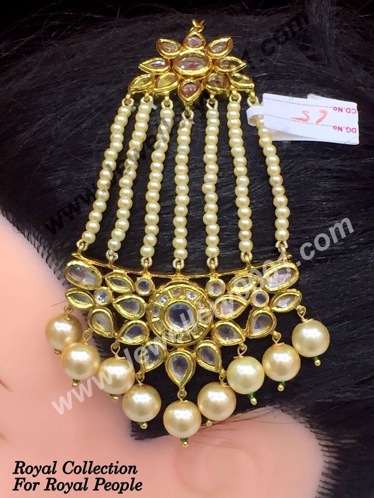 Discover an awesome collection of maang tika, jhumar jewelry online. Have a look on our beautiful and gorgeous collection in jadau and kundan maang tika.