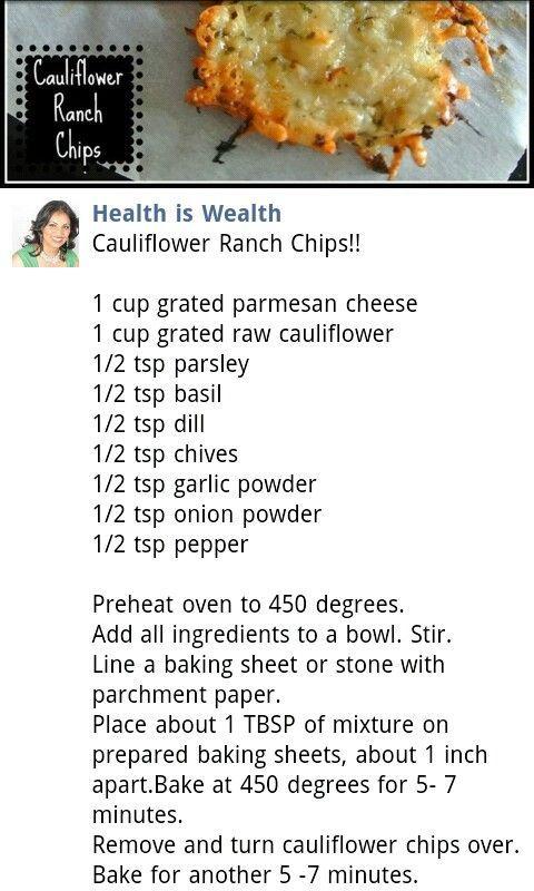 Cauliflower Chips