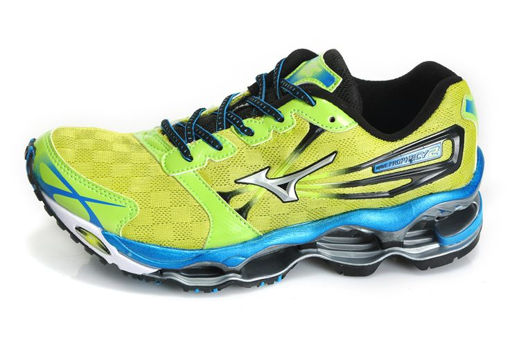 Mizuno Wave Prophecy 2 Yellow Green Mens Shoes