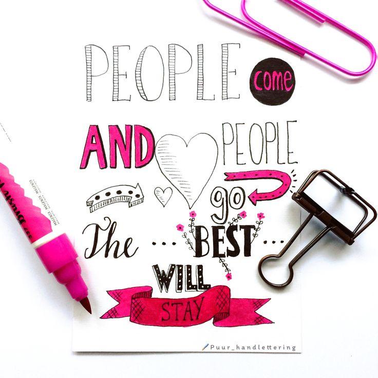 Een mooie #quote voor nationale #vriendinnendag. #handlettering #handletteren #friendship