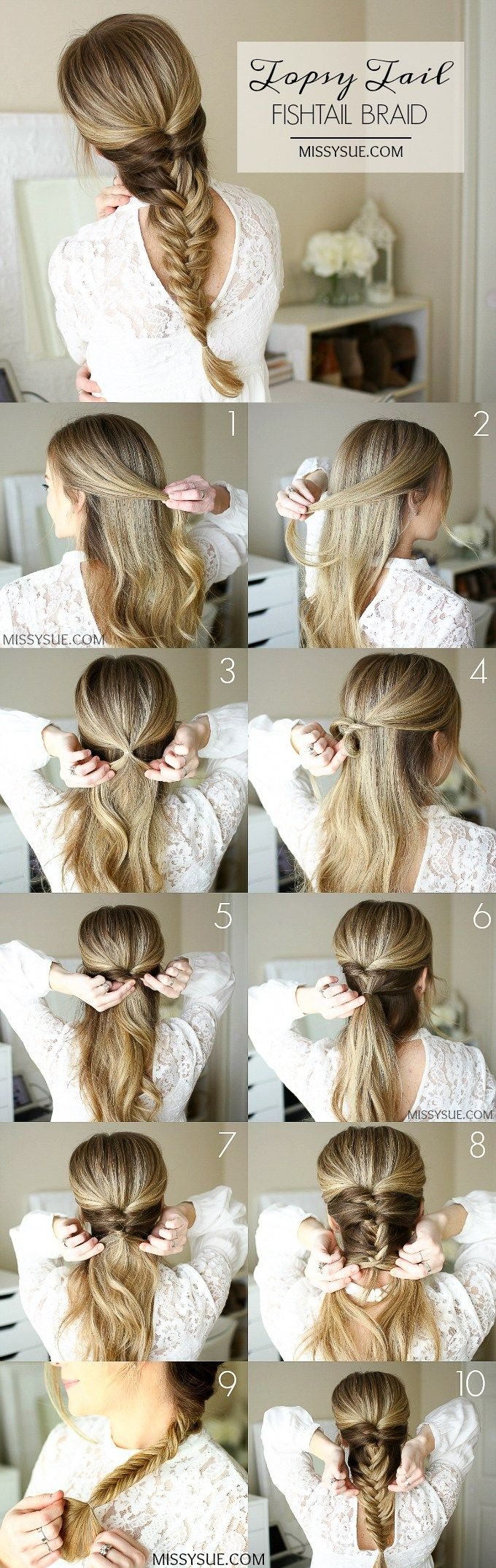 Summer is around the cornerand I've been rounding up some great heatless hairstyles! I am planning to give up hot tools when the weather really heats up and this would be a great hairstyle to try. I love braiding my hair on day two or…