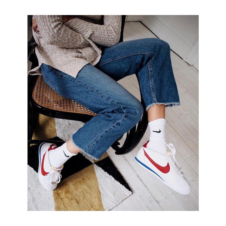 """Love my customized Nike Cortez #cortez #tk @nikesportswear"""