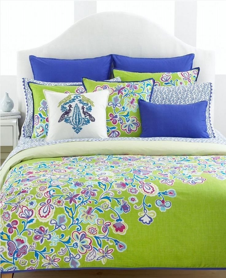 Colors Added To Dark Blue Bedroom Comforter Tommy