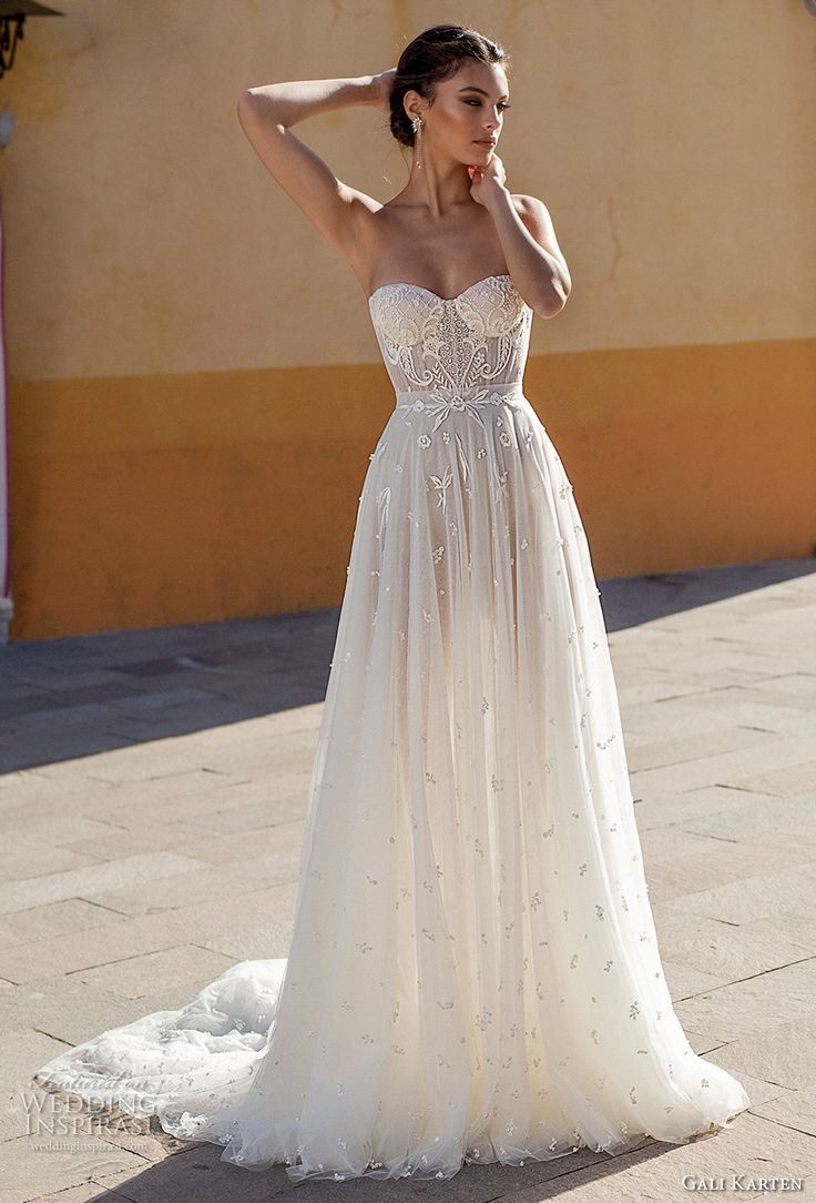 "Gali Karten 2018 Wedding Dresses — First Look at the ""Burano"" Bridal Campaign – Evening Dresses"