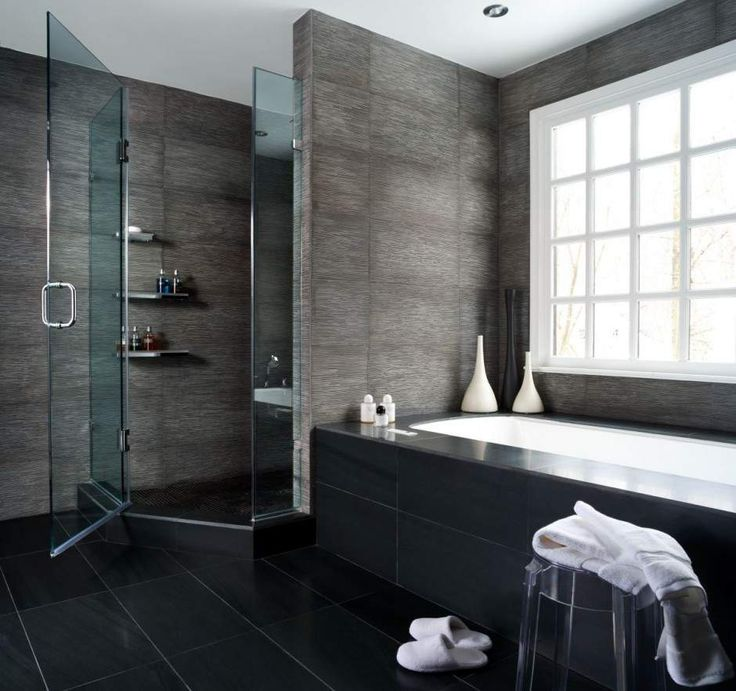 Beautiful Bathrooms Bathroom Beautiful Dark Grey With Black Flooring Bathroom Design By Mow Design Studio With Cool Shower Area With Modern Glass Doors And