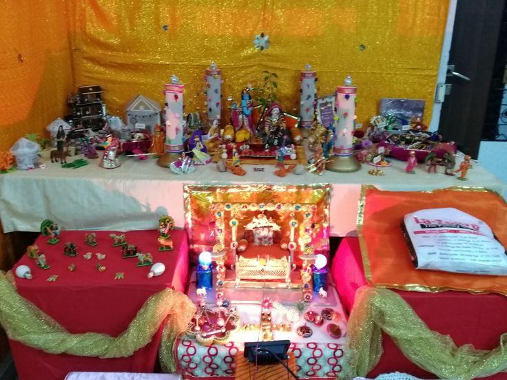 Krishna Janmashtami Tulsi Vivah Theme Decoration At My Home