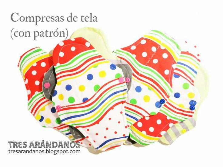 Tres Arándanos: Compresas de tela: tutorial con patrón
