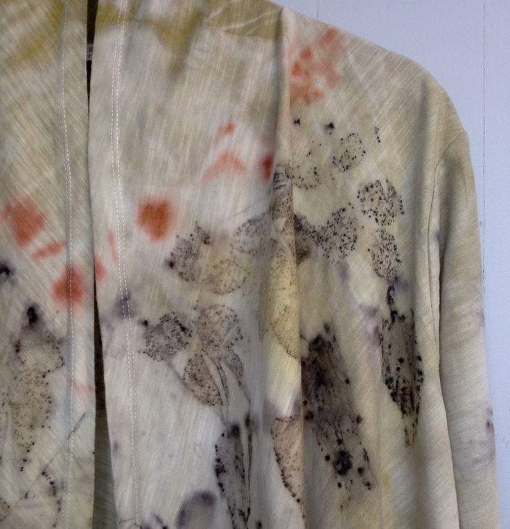 eco dyed drape front cardigan - plus size - altered couture by rita summers