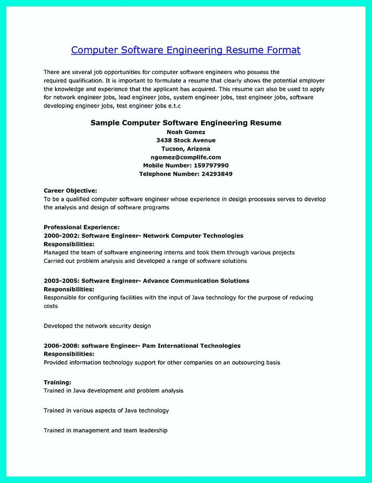 nice The Perfect Computer Engineering Resume Sample to Get Job Soon, Check more at http://snefci.org/the-perfect-computer-engineering-resume-sample-to-get-job-soon