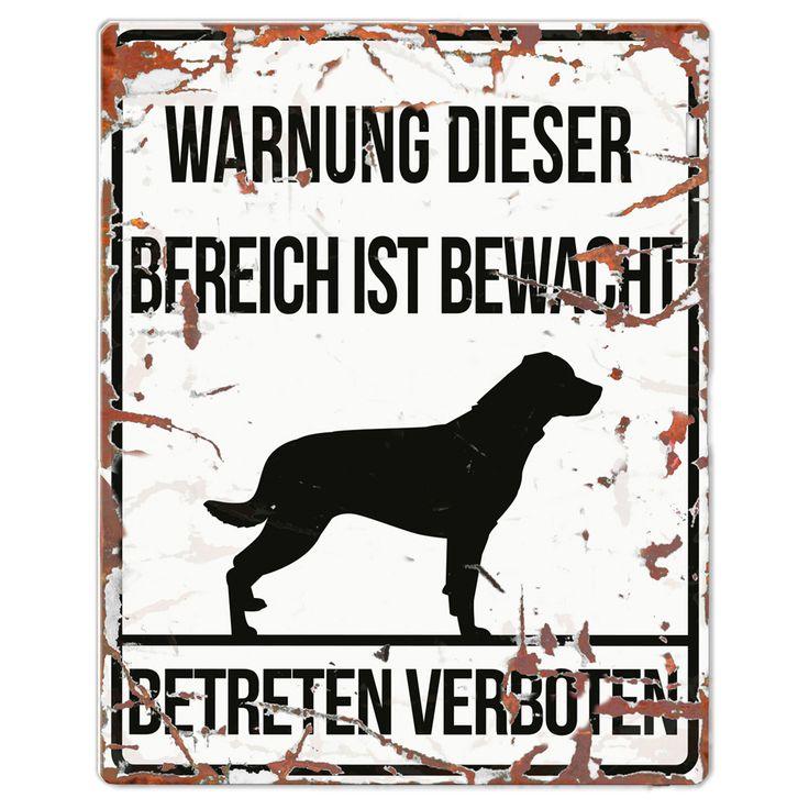 #rottweiler Warnschild auf Schecker.de  #hunde #schilder #geschenk