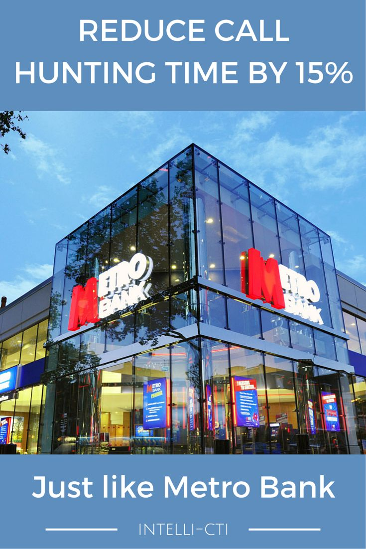 By implementing intelli-#CTi to integrate their telephone system with Microsoft Dynamics #CRM, Metro Bank was able to speed up the pre-call, call and post-call process for increased productivity. #MSDynCRM #telephony