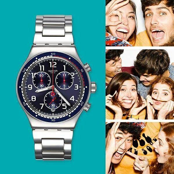 Nuovo, giovane ed elegante...la nuova linea swatch d'acciaio ideale per le serate con gli amici!!! http://www.gioielleriagigante.it/categoria-prodotto/orologi/swatch-orologi/swatch-uomo/