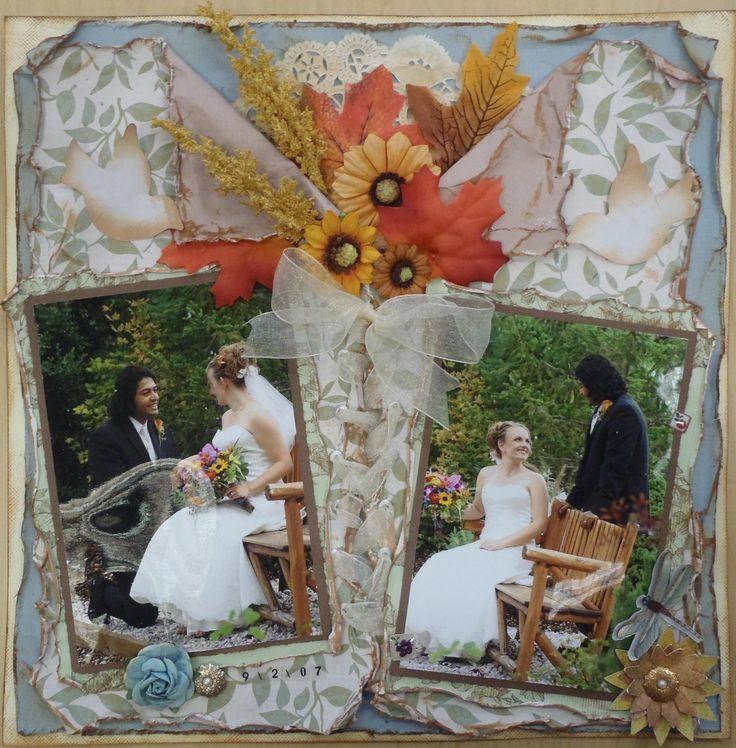 When I Saw You 9-2-07 *Scraps of Darkness* - Scrapbook.com - #scrapbooking #layout #wedding #bazzillbasics #creativeimaginations #cosmocricket